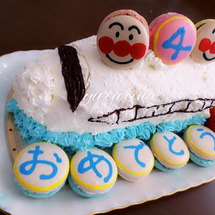 新幹線ケーキのお誕生…
