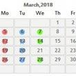 3月のレッスンスケジ…