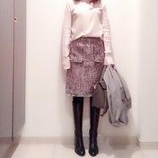 ピンクのツィードスカート♡パーティへ来てくださる方へ♬