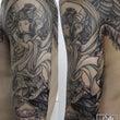 迦陵頻伽の和彫り刺青…