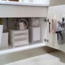 洗面台下の収納をアッ…