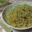 玄米チャーハンと味噌…