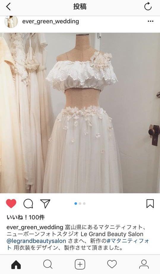 ルグラン総曲輪店の新作ドレス♡ever green weddingさんに作ってもらいました