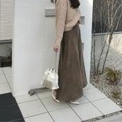 ママ友からも好評なコーデュロイスカート♡
