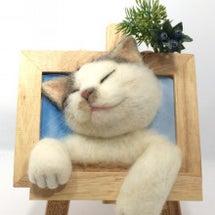 キジ白の斜め寝 猫さ…