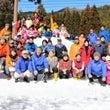 雪のキャンプ集合写真