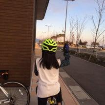 久しぶりに自転車乗り…