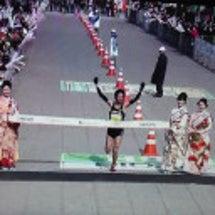京都マラソンの授賞式…