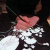 唐団扇花熨斗模様の小袖の復刻訪問着のお誂え ④ 地直し後、青花とカチン染め at 京都 に志田の画像