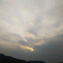 #空   太陽が雲に…