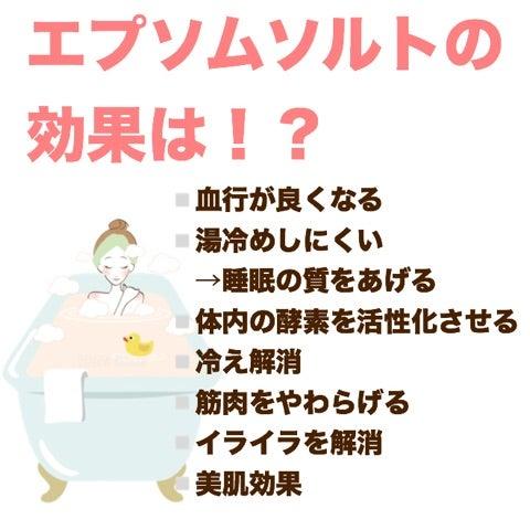 忙しダイエッターに☆お風呂にエプソムソルトを使ってみた結果の記事より