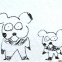郁人くんの親子パンダ