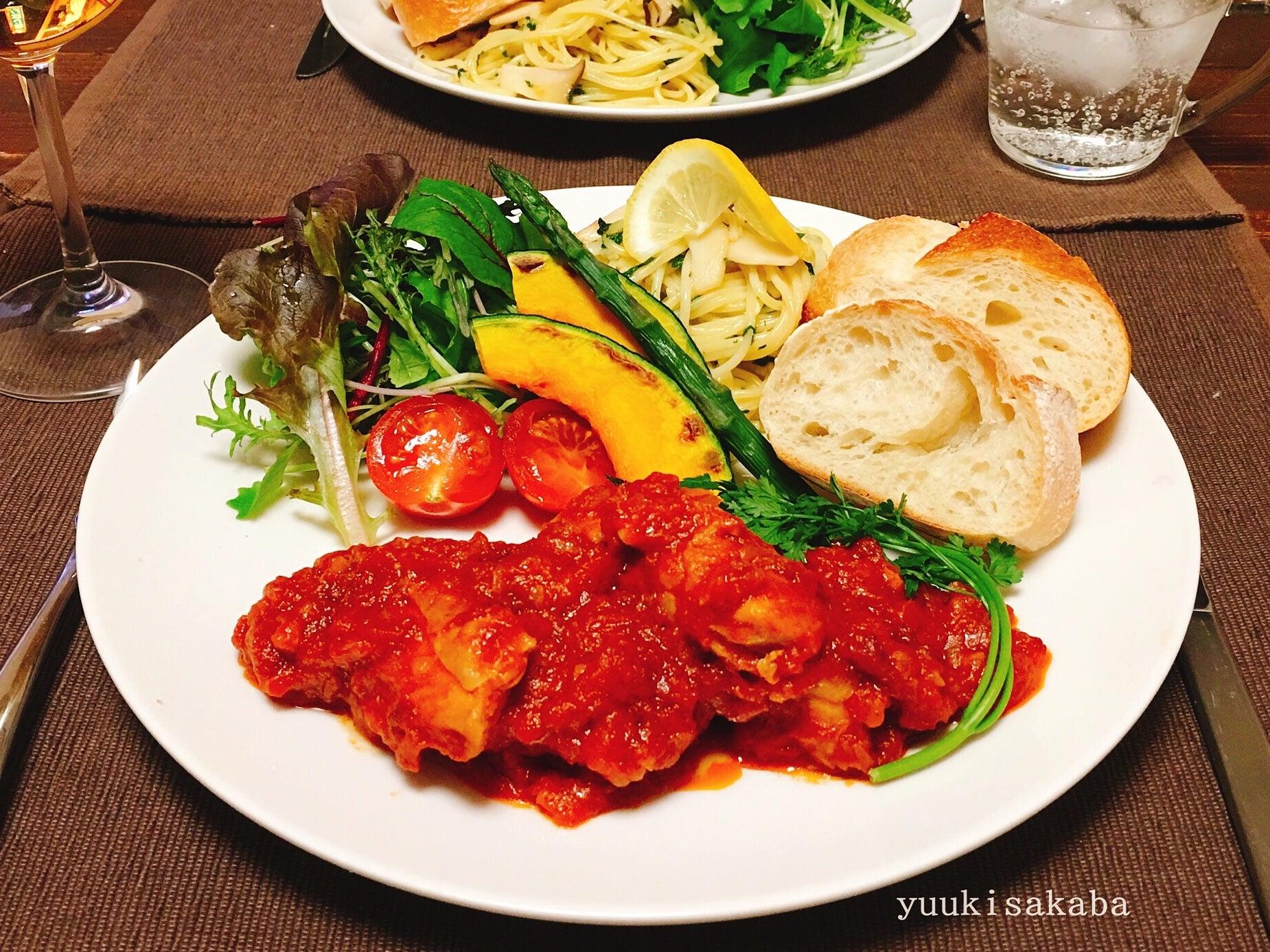 煮込み 鶏肉 トマト
