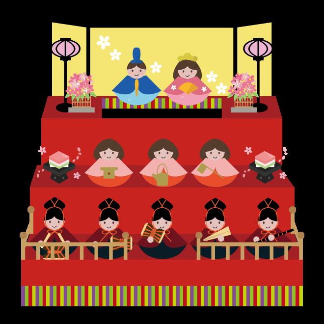 かわいいひな祭りに使えるイラスト 5選 Illustmansionのブログ