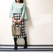 「でしょ!」と叫んだ、春ブラウス×【GU】タイトスカートでお仕事コーデ♡