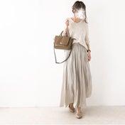 ゆるニット×オトナ女子のためのマキシスカート