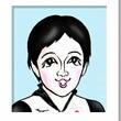 小平奈緒さんの似顔絵
