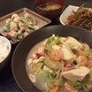 【昨日の晩ごはん☆豆腐一丁でボリュームアップ!】
