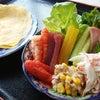 薄焼き卵の手巻き寿司の画像