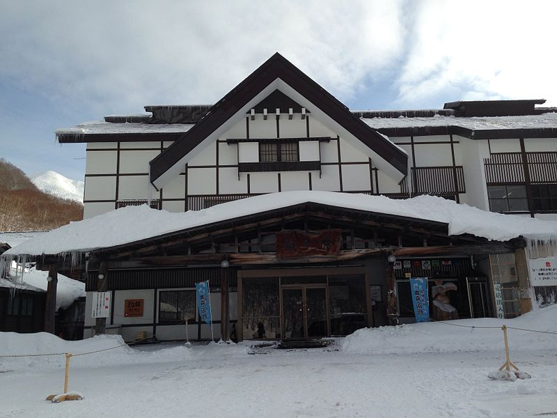 冬の旅館本屋