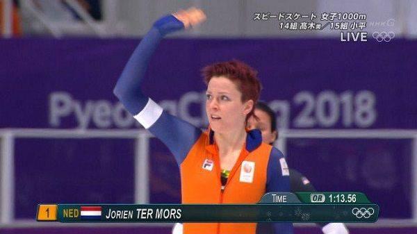 名前:ヨリン・テル・モルス(Jorien ter Mors) 競技:スピードスケート身長:182cm 体重:73kg  誕生日:1989年12月21日年齢:28歳 wikipediaより