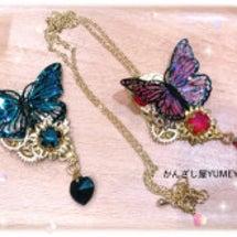 歯車蝶のネックレス*…