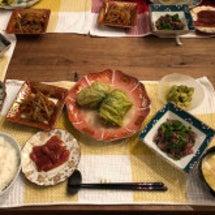本日の夕飯メニュー。