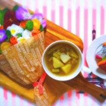 ブーケサラダの朝食