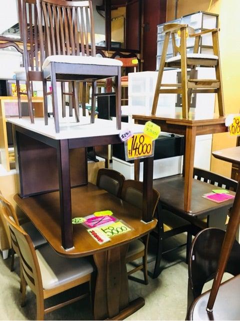中古ダイニングテーブルセット 大量販売中 青森市のリサイクル