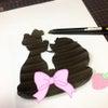 ディズニーの有名カップルのオーダーケーキ制作♡の画像