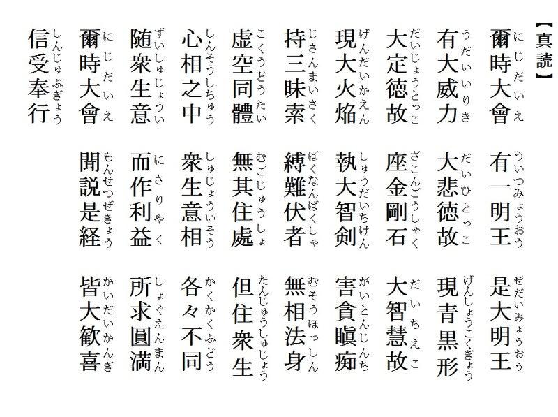 仏教と儒学 仏説聖不動経「徳の...