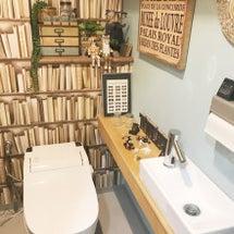 我が家の書庫トイレ