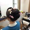 結婚ヘアメイク/振り袖に手作り生花の日本髪の画像