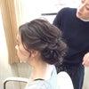 結婚式ヘアスタイル/挙式のシニヨン/ヘアメイクリハーサルの画像