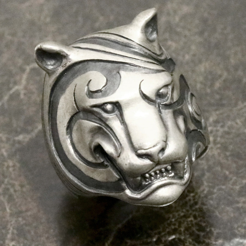 dualflow デュアルフロウ シルバー リング engrave tiger ring