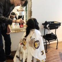 娘とヘアメンテナンス…