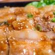 豚バラ丼とシフォンケ…