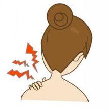 右肩背部痛と頭部左屈…