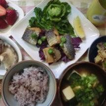 鰆の唐揚げ、児菜&桜…