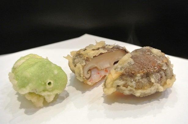 天ぷら天真 シイタケの海老はさみ揚げ