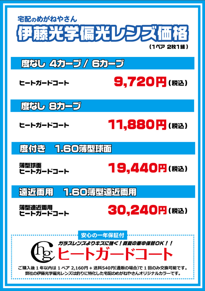 伊藤光学価格表