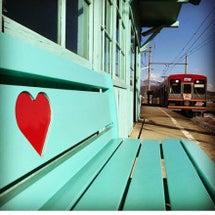 八木沢駅のハートのベ…