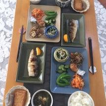 塩鯖と常備菜でお昼ご…
