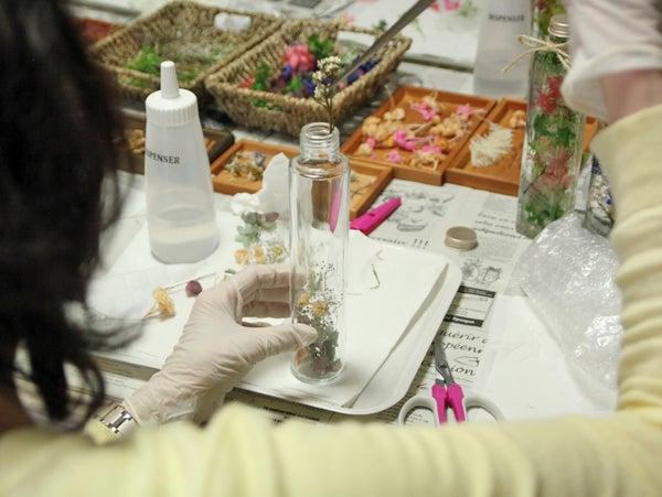 ハーバリウム教室 ハーバリウム ハーバリウムレッスン 体験レッスン ワークショップ 千葉県 佐倉市