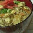 玉子丼、手作り野菜ス…