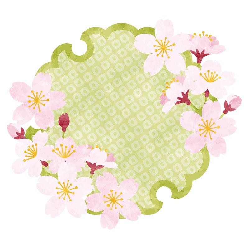 和柄のフレーム桜雪輪 Rkrkのイラスト好きなこといろいろ