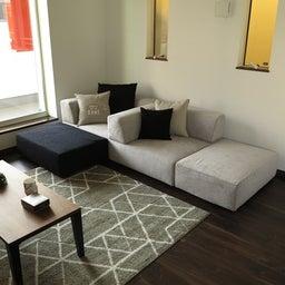 画像 マンションの家具の配置提案 ④ リビングと隣接する洋室とつなげて家具を配置!家具の配置換え提案も の記事より 10つ目