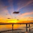 バリ島雨季のサンセッ…