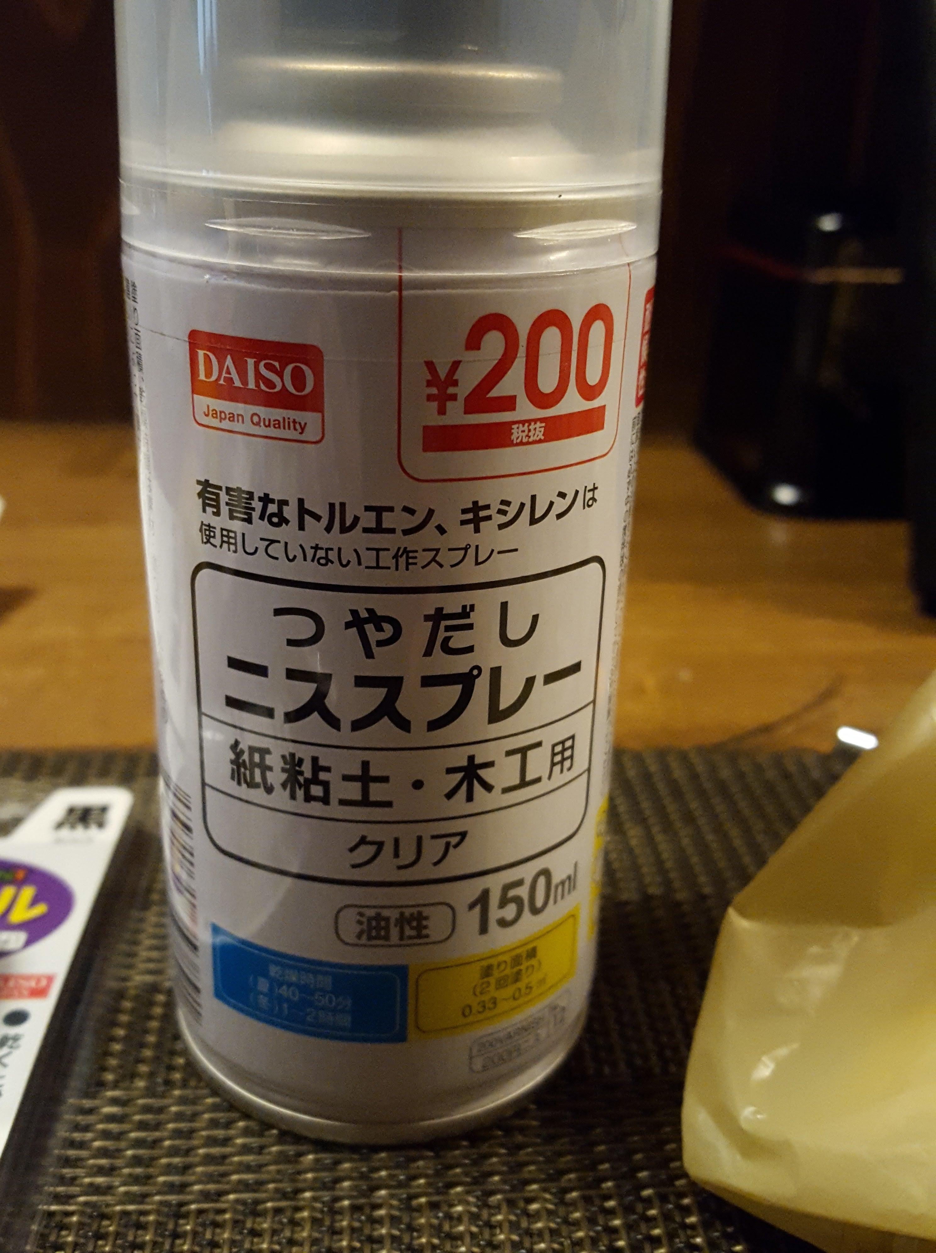 粘土 ニス 紙