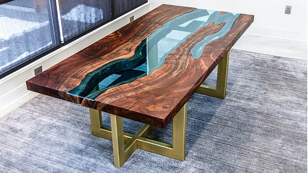 Live Edge River Table How To Ghost Riponの屋形(やかた)
